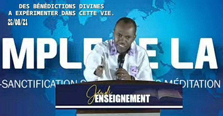 Des bénédictions divines a expérimenter dans cette vie.